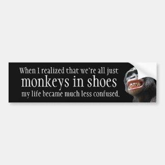 Monkeys In Shoes Bumper Sticker