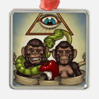 Monkeys Metal Ornament