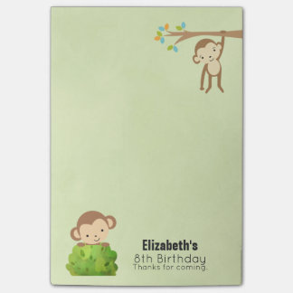 Monkeys Playful and Cute Birthday Thanks Post-it Notes