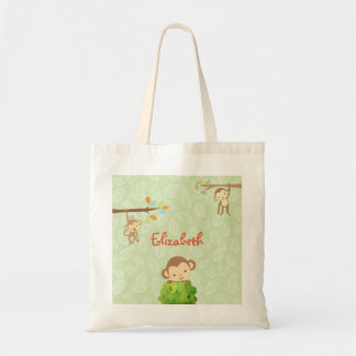 Monkeys - Playful and Cute Personalized Tote Bag