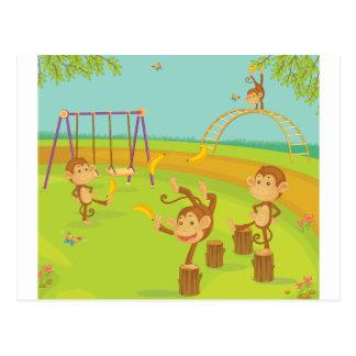 Monkeys Postcard