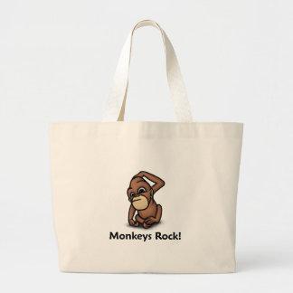 Monkeys Rock! Jumbo Tote Bag