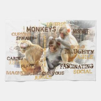 Monkeys Tea Towel