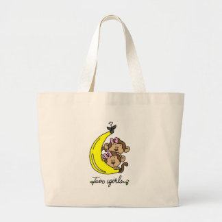 Monkeys Twin Girls T-shirts and Gifts Bag