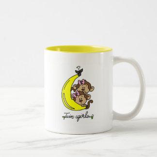 Monkeys Twin Girls T-shirts and Gifts Mug