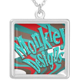 Monkley Bling logo necklace