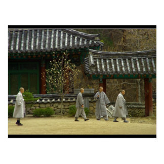 Monks at palgong mountain, South Korea Postcard