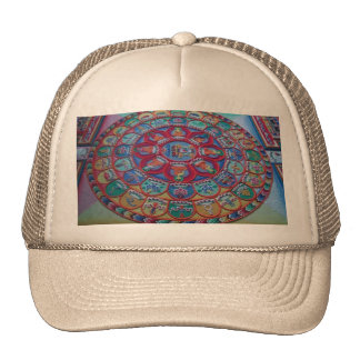 Monks Sand Art for Happiness Love and LuckHat Mesh Hats