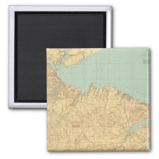 Monmouth Shore, New Jersey Square Magnet