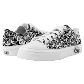 Mono Camo Low Top Sneakers