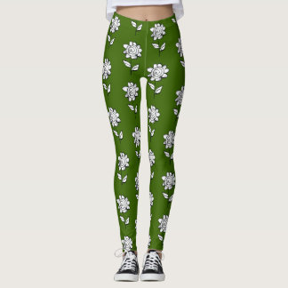 mono Flower Leggings