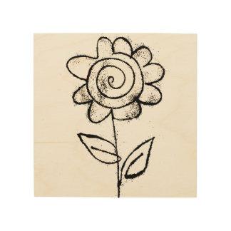 Mono print flower