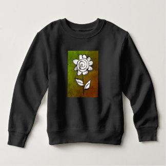 Mono print flower sweatshirt