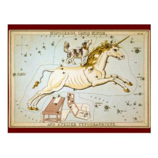 Monoceros, Canis Minor, and Atelier Typographique Postcard