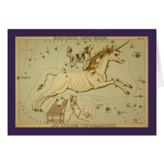 Monoceros (Unicorn) Constellation Card