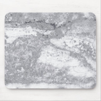Monochrom White Gray Marble Stone Glam Carrara Mouse Pad