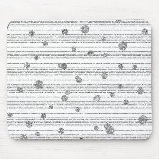 Monochrom White Gray Stripes Lines Diamond Confett Mouse Pad