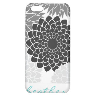 Monochromatic  Flowers Illustration Pattern iPhone 5C Case