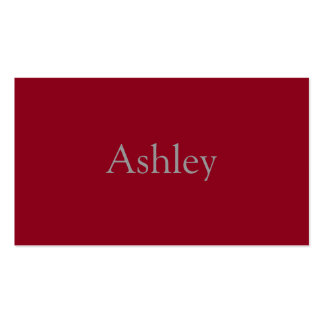 Monochromatic in Cranberry Business Card Templates