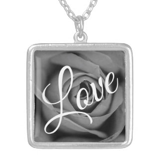 Monochromatic Love Rose Necklace