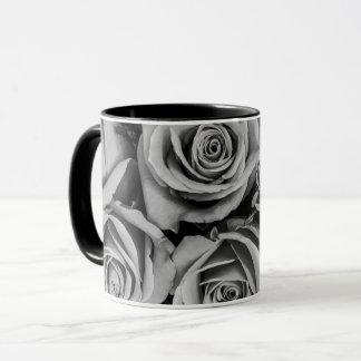 Monochromatic Rose Coffee Mugs