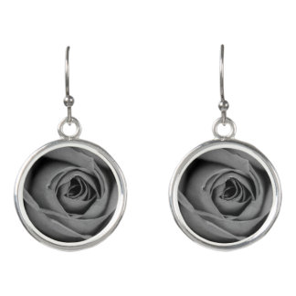 Monochromatic Rose Drop Earrings