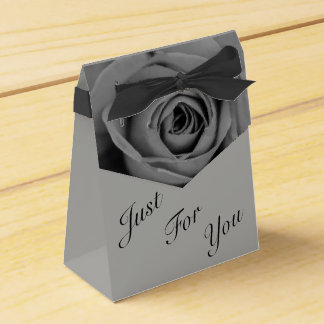 Monochromatic Rose Just For You Tent Favor Box