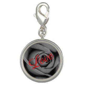 Monochromatic Rose Love Charm