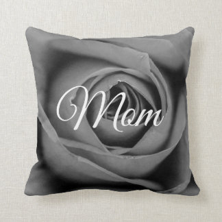 Monochromatic Rose Mom Throw Pillow