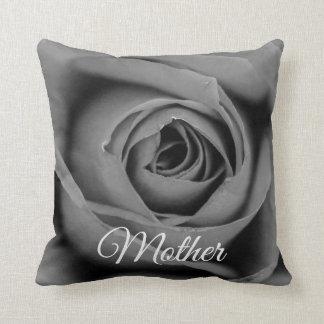 Monochromatic Rose Mother Throw Pillow