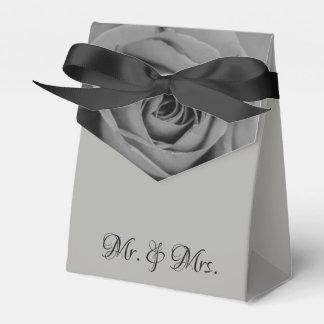 Monochromatic Rose Mr. & Mrs. Tent Favor Box