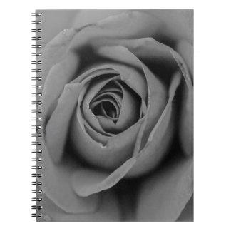 Monochromatic Rose Notebook