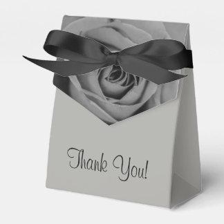 Monochromatic Rose Thank You Tent Favor Box