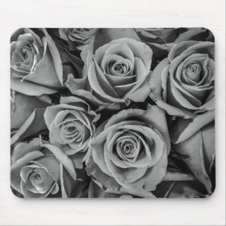 Monochromatic Roses Close Up Mousepad