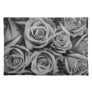 Monochromatic Roses Cloth Placemat