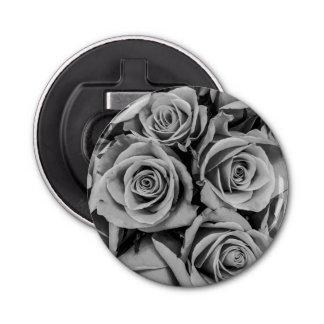 Monochromatic Roses Magnet Backed Bottle Opener