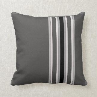 Monochromatic Stripes American MoJo Pillow