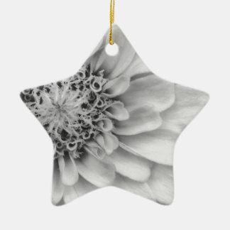 Monochromatic Zinnia Ceramic Star Decoration