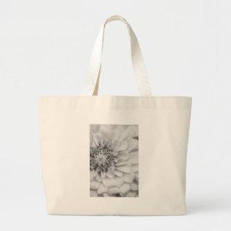 Monochromatic Zinnia Large Tote Bag