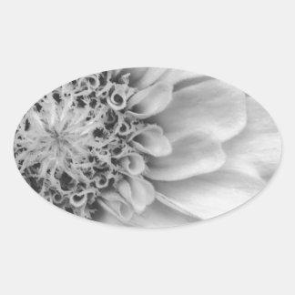 Monochromatic Zinnia Oval Sticker