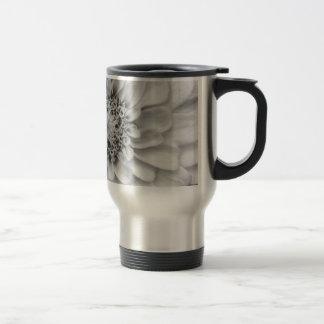 Monochromatic Zinnia Travel Mug