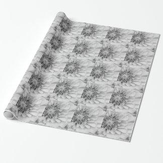 Monochromatic Zinnia Wrapping Paper