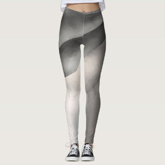 Monochrome Abstrac Leggings