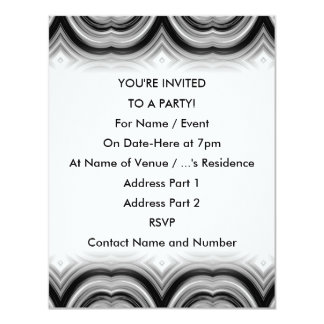 Monochrome Abstract Pattern. 11 Cm X 14 Cm Invitation Card