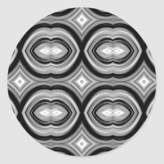 Monochrome Abstract Pattern. Stickers