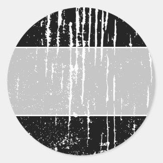 Monochrome Abstract. Round Sticker