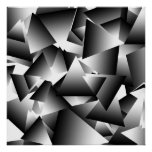 Monochrome Abstract Triangles Fashion Pattern
