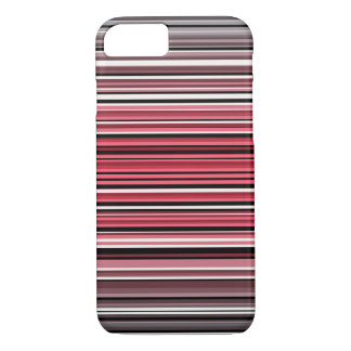 Monochrome and red hues horizontal linework iPhone 7 case