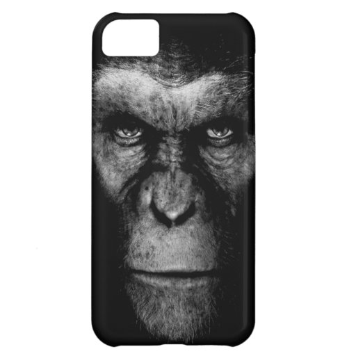 Monochrome  Ape Face iPhone 5C Covers