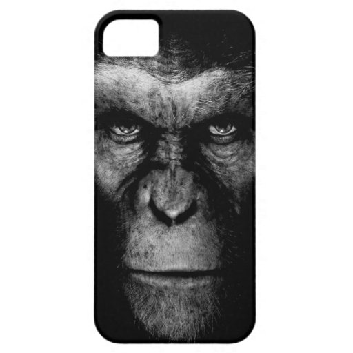 Monochrome  Ape Face iPhone 5 Cases